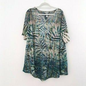 Catherines J0 Plus 3X Short Sleeve Top